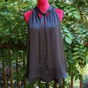 NWOT Black Silky Dressy Tank Top Size Large